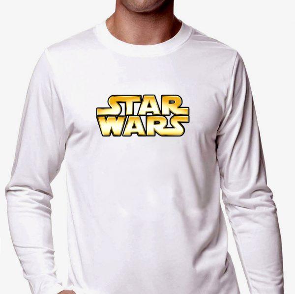 Изображение Мужской лонгслив белый Star Wars Лого