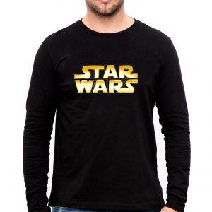 Изображение Мужской лонгслив черный Star Wars Лого
