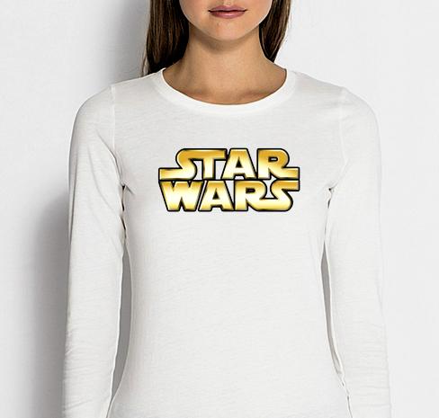 Изображение Женский лонгслив белый Star Wars Лого