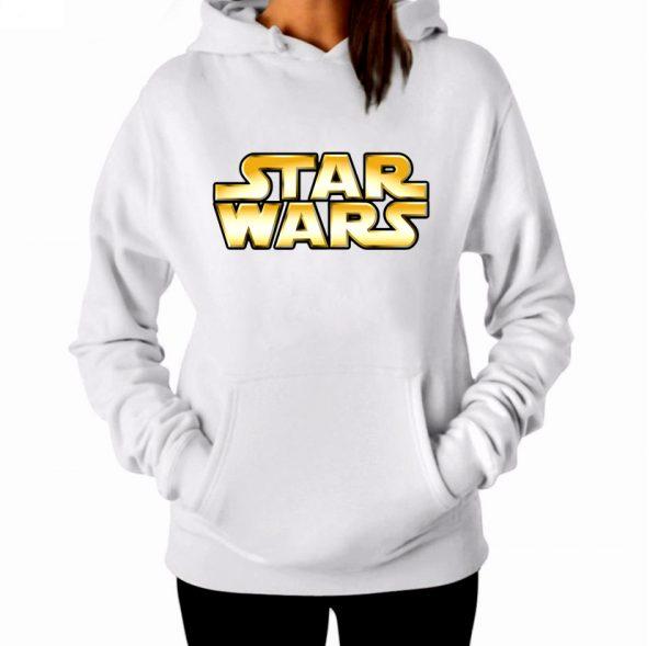 Изображение Женская толстовка белая Star Wars Лого