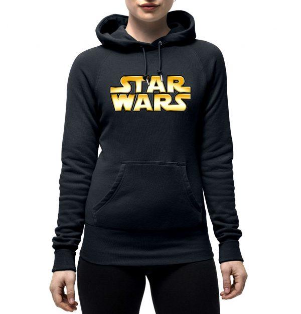 Изображение Женская толстовка черная Star Wars Лого