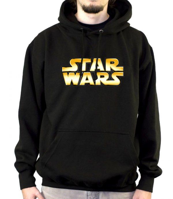 Изображение Мужская толстовка черная Star Wars Лого
