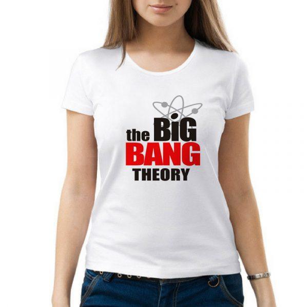 Изображение Женская футболка Теория Большого Взрыва Лого