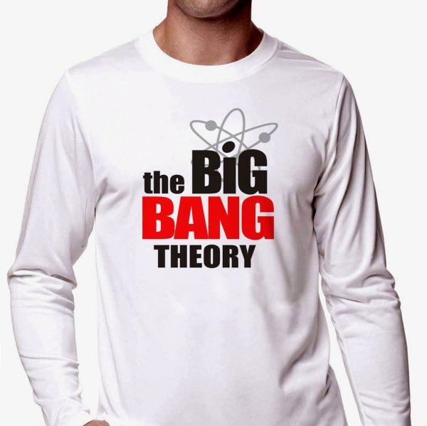 Изображение Мужской лонгслив Теория Большого Взрыва Лого