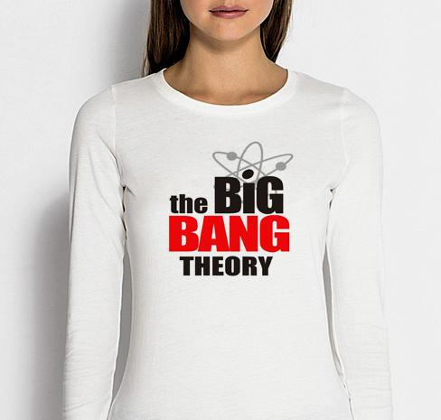 Изображение Женский лонгслив Теория Большого Взрыва Лого