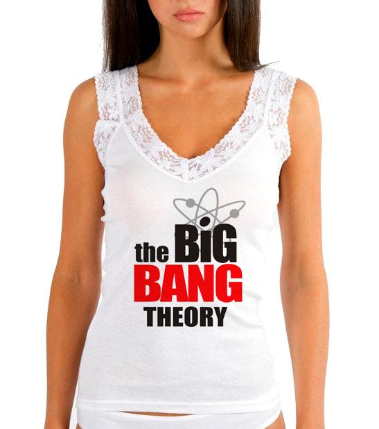 Изображение Женская майка Теория Большого Взрыва Лого