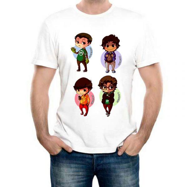 Изображение Мужская футболка Теория Большого Взрыва - мультяшные герои
