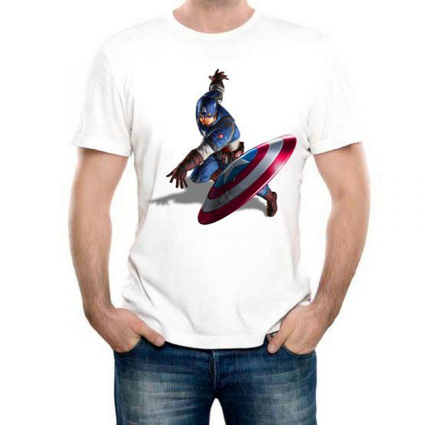 Изображение Мужская футболка Капитан Америка Бросок Щита