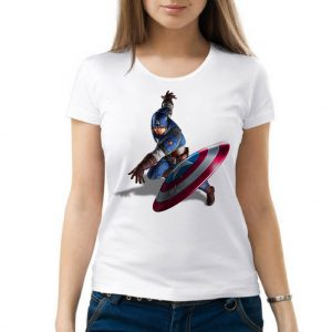 Изображение Женская футболка Капитан Америка Бросок Щита