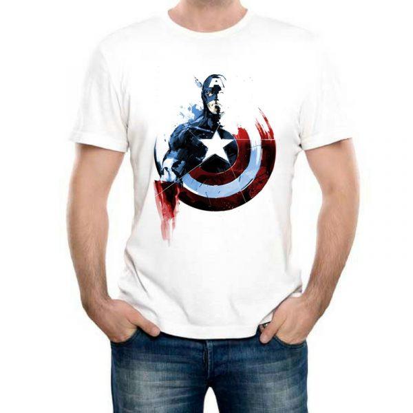 Изображение Мужская футболка Капитан Америка прикольный арт