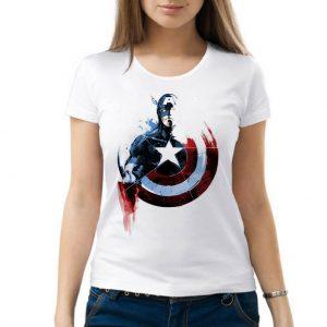 Изображение Женская футболка Капитан Америка прикольный арт