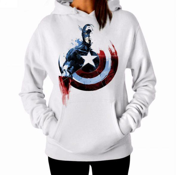 Изображение Женская толстовка Капитан Америка прикольный арт
