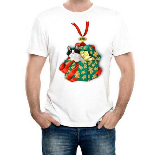 Изображение Мужская футболка Кот Подарок 2018