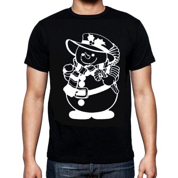 Изображение Мужская футболка Мрачный Снеговик