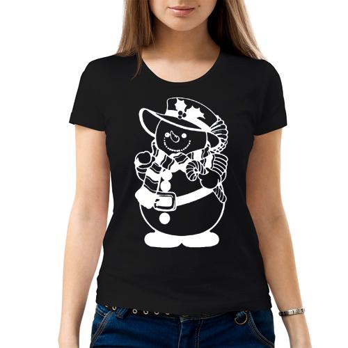 Изображение Женская футболка Мрачный Снеговик