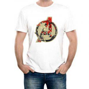Изображение Мужская белая футболка Мстители Лого