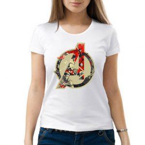 Изображение Женская белая футболка Мстители Лого