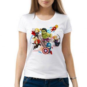 Изображение Женская футболка Мстители Мультяшки