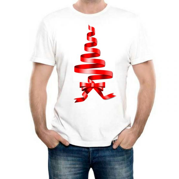 Изображение Мужская футболка Рождественская Лента