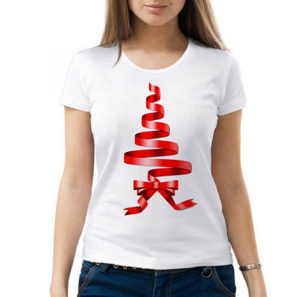 Изображение Женская футболка Рождественская Лента
