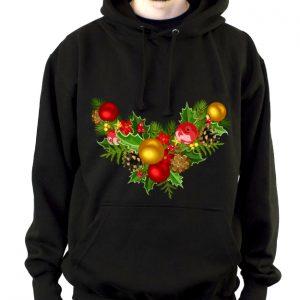 Изображение Мужская черная толстовка Рождественский Венок