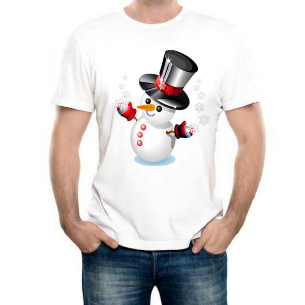 Изображение Мужская футболка Снеговик