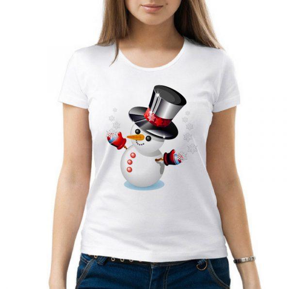 Изображение Женская футболка Снеговик