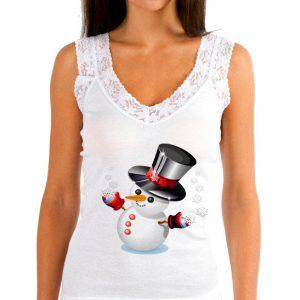 Изображение Женская майка Снеговик