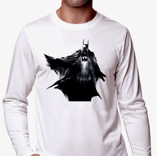 Изображение Мужской лонгслив Batman черный арт
