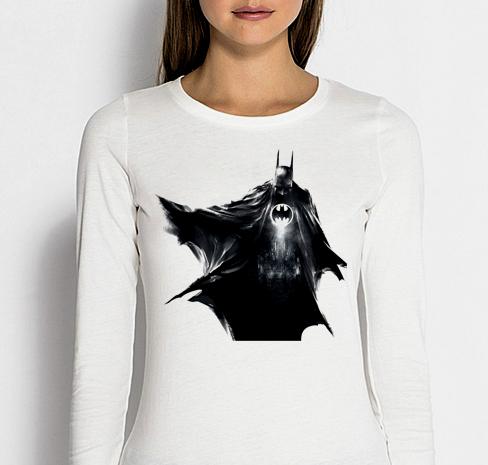 Изображение Женский лонгслив Batman черный арт