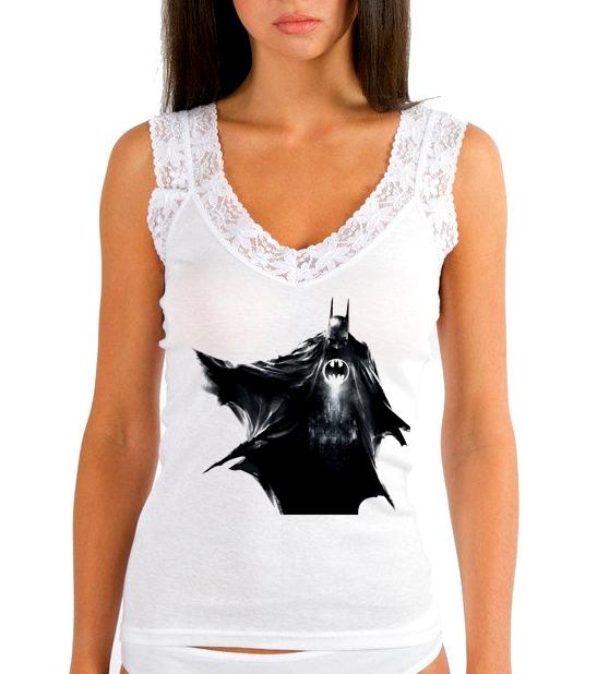 Изображение Женская майка Batman черный арт