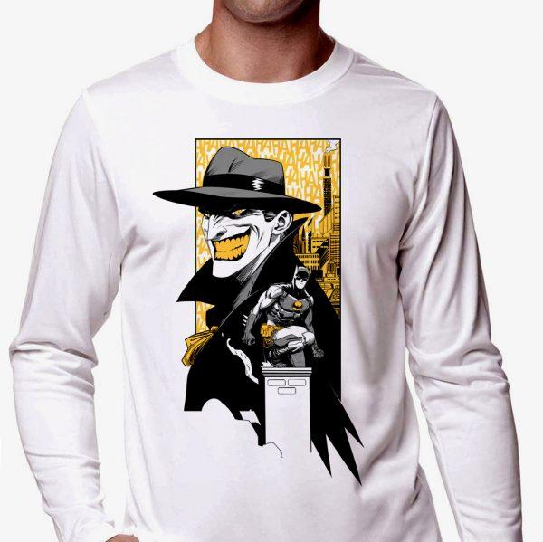 Изображение Мужской лонгслив Batman and Joker арт