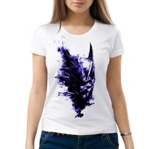 Изображение Женская футболка Маска Бэтмена арт