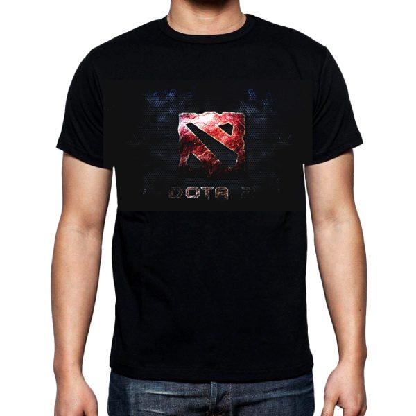 Изображение Мужская футболка черная Dota 2 Лого