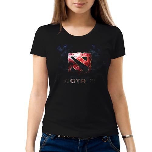 Изображение Женская футболка черная Dota 2 Лого