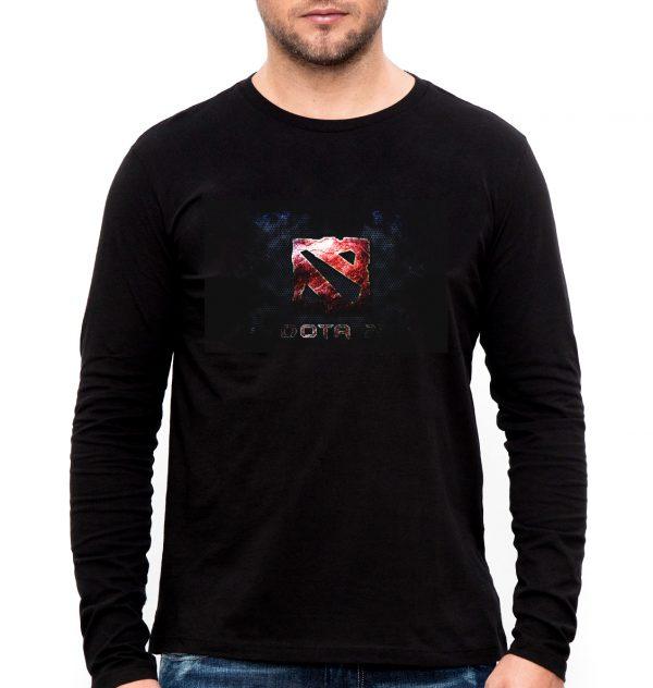 Изображение Мужской лонгслив черный Dota 2 Лого