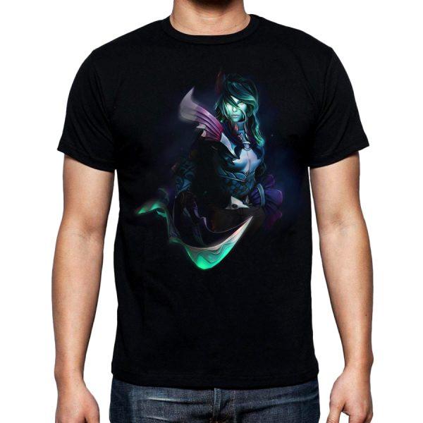 Изображение Мужская футболка черная Dota 2 Фантом Ассасин