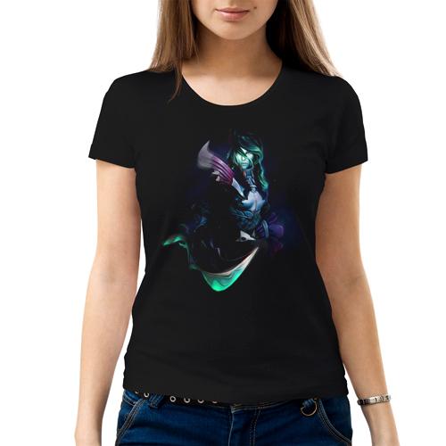 Изображение Женская футболка черная Dota 2 Фантом Ассасин