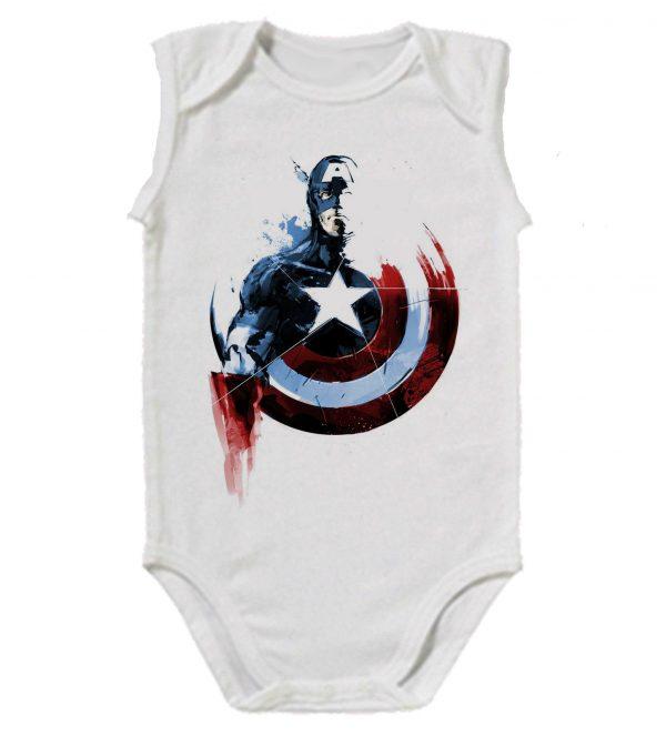 Изображение Капитан Америка детское боди белое