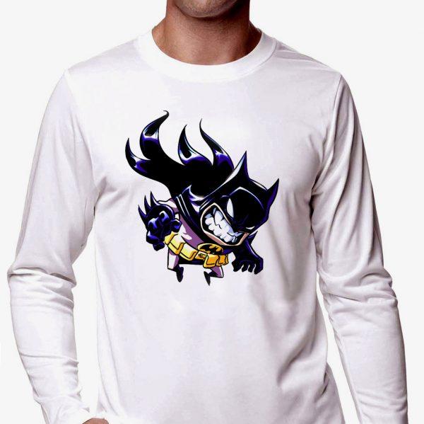 Изображение Мужской лонгслив Рисованный мультяшный Batman