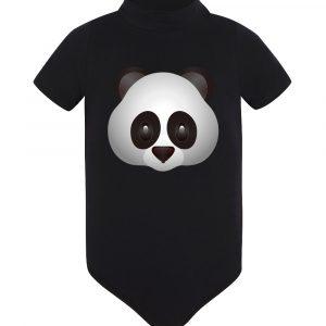 Изображение Детское боди черное Смайл серая Панда