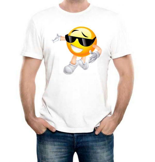 Изображение Мужская футболка белая Смайл в очках