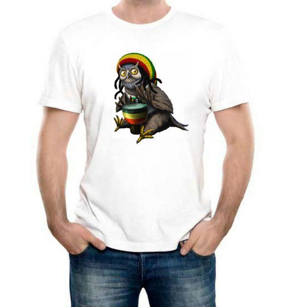 Изображение Мужская футболка Сова Растаман