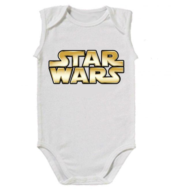 Изображение Star Wars лого детское боди белое