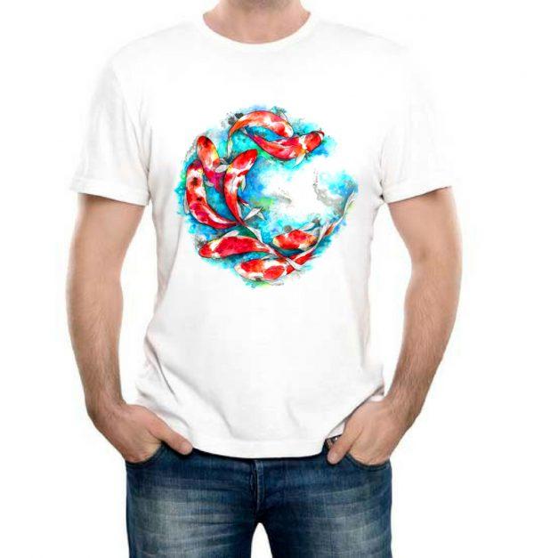 Изображение Мужская футболка Цветные рыбки Арт