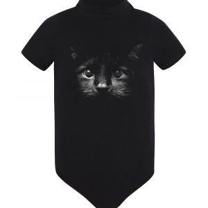 Изображение Черный кот детское боди черное