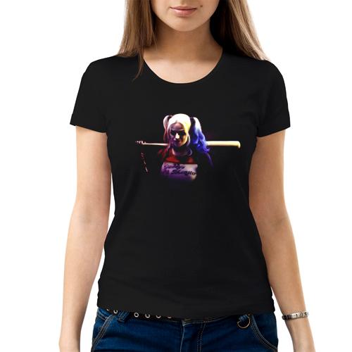 Изображение Футболка женская черная 8 марта Harley Quinn