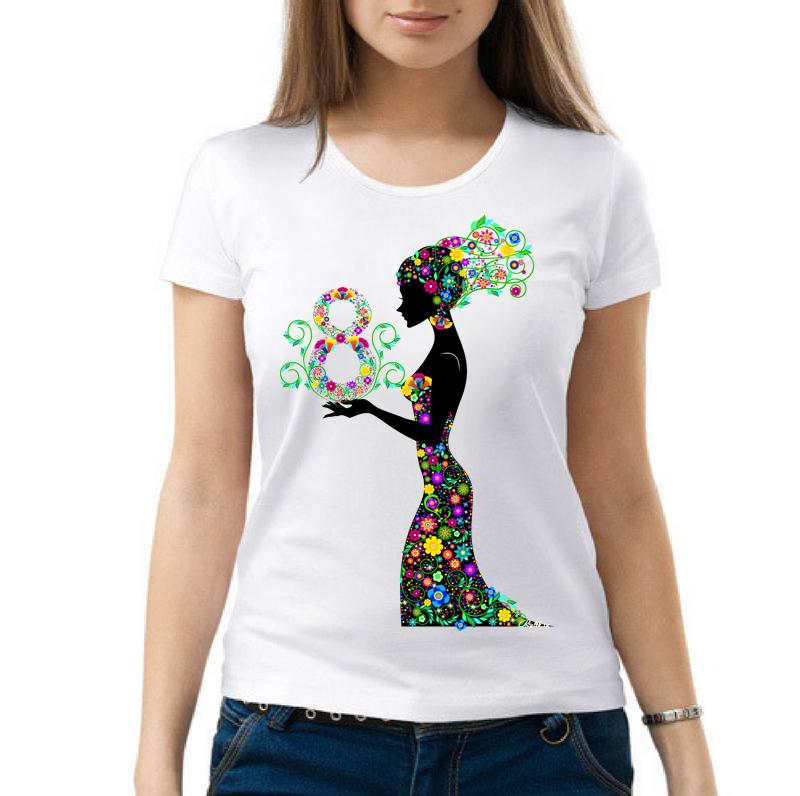 Прикольные женские футболки с принтом