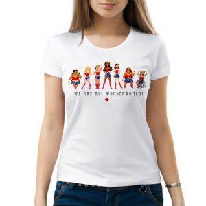 Изображение Футболка женская белая We are all Wonderwoman 8 Марта