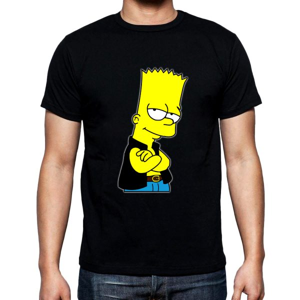 Изображение Футболка мужская черная Барт Симпсон в жилетке